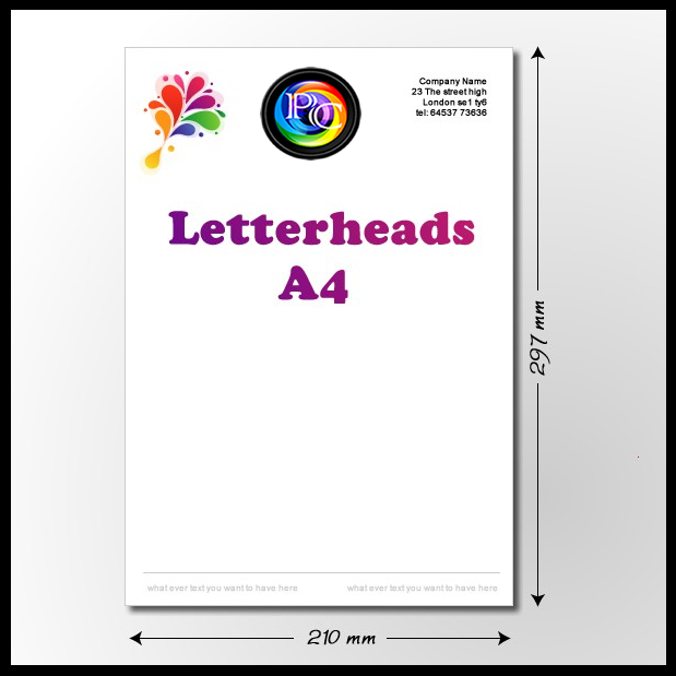 Same day business letterhead printing London PRINT IN LONDON